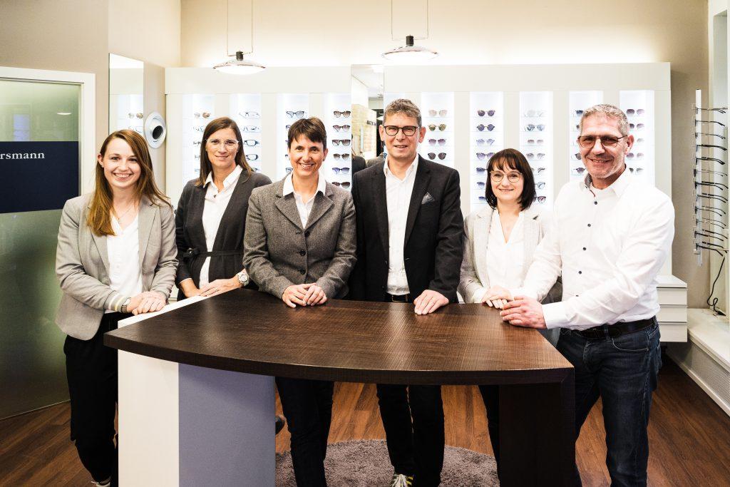Unser Team Foto. Optik Mersmann. Wir Sehen Uns. Brillen in Ulm.